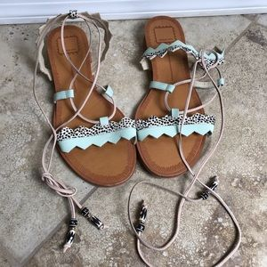 Dolce Vita Shoes Sandals Tie Open Toe